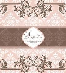 pink invitation card pink vintage damask invitation card u2014 stock vector imagepluss