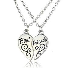 personalized necklaces for couples 2pcs best friends handsted puzzle necklace broken heart pendant