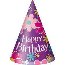 birthday hats blossom birthday party hats 8 count walmart