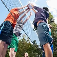 Kids Playing Backyard Football Sport Court Experienced Courtbuilders Sport Court