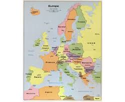 map of europe with country names and capitals maps of europe and european countries political maps road and