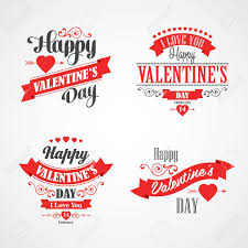 happy valentines day lettering card typographic background with