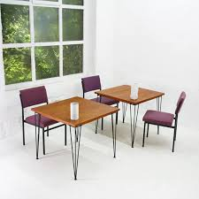 Hairpin Leg Dining Table Square Hairpin Legs Dining Table In Teak 1960s Design Market