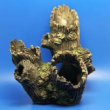 Log Decor Tree Trunk Aquarium Ornament Root Drift Wood Hide Log Decoration