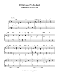 o come all ye faithful jazz version sheet by