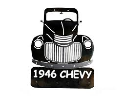 Classic Chevy Custom Trucks - smw274 custom metal classic 1946 chevy truck key holder sunriver