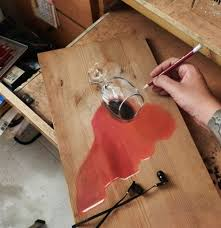 artwork on wooden boards artist creates realistic drawings on wooden boards