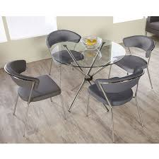 rubber bumpers for glass table tops hydra table this modern dining table folds for easy storage when