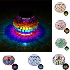 Ball Solar Lights - mosaic solar light rgb glass ball solar powered rechargeable