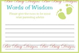 advice for the cards baby shower advice cards bee busy designs
