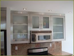 stainless steel kitchen cabinets with glass doors the popularity