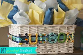 photo diy baby shower gift basket image