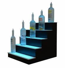 5 tier led display shelf lighted back bar display