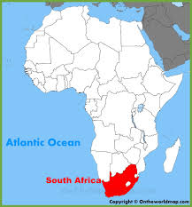 map of south africa south africa location on the africa map