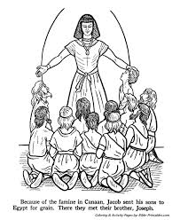 joseph brothers grain testament coloring pages