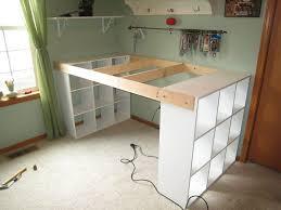 Craft Desk Diy How To Build A Custom Craft Desk Craft Desk Desks And Craft