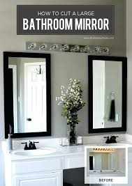 large bathroom mirror ideas ideas for framing a large bathroom mirror easywash