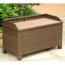 Patio Chair Cushion Storage Resin Wicker Patio Storage Bench Bench Decoration