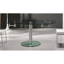 Black Glass Extending Dining Table Amazon Com Casabianca Furniture Thao Collection Glass Extendable