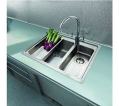 Topmount  Bowl Inset Sink With Tap Hole Modern Square - Flush mount kitchen sink