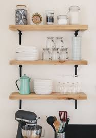 kitchen sheved styling tricks for open kitchen shelves apartment therapy