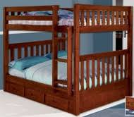 solid wood full over full bunk beds space saving full size bunk