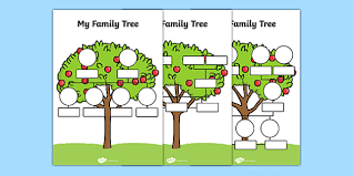 family tree worksheets family tree template