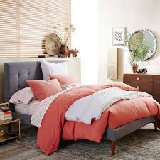 Sleep Number Bed Hotel Contemporary Bedroom With Peach Color Bedding Set Feat Sleep