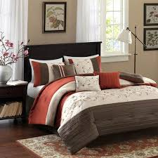 Rust Comforter Shop Madison Park Serene Brick Bed In A Bag Sets The Home