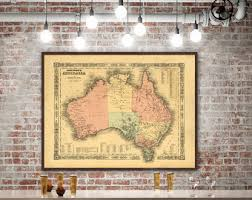 Vintage Home Decor Australia Fantasy Map Of Australia Wall Decor Fantasy Gift Fantasy Map