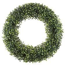 artificial boxwood wreath artificial 19 5 boxwood wreath reviews joss