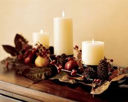pine cone decoration ideas excellent candle lightings for thanksgiving table centerpiece with