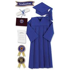 graduation gown jolee s seasonal stickers blue graduation cap and gown walmart