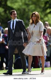 Englefield Berkshire Roger Federer Wife Mirka Arrive Stock Photos U0026 Roger Federer Wife