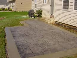 a patio awesome concrete backyard ideas stamped pics with