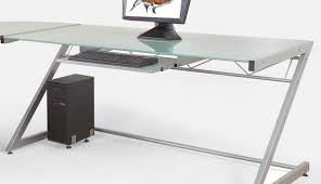 Grey Corner Desk by Table Black Glass Desk With Drawers Awesome Glass Table Desk