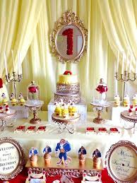 belle cake table from a beauty and the beast 1st birthday party on