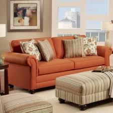 Orange Sofa Living Room Ideas Burnt Orange Leather Looks Cozy Home Decor Pinterest