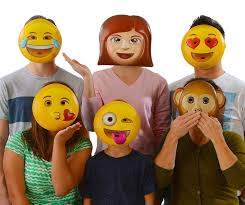 emoji mask emoji universe emoji vacuform party masks pack of 6
