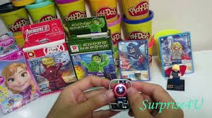 play doh pacman surprise eggs peppa pig mickey mouse kitty