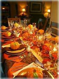 simple thanksgiving table setting ideas thanksgiving table