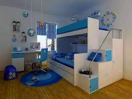 Bunk Beds With Computer Desk by White Modern Stained Wooden Bunk Bed Set Round Blue Country Area