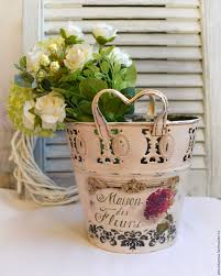 Buy Planters by Buy Planter For Flowers Vintage Decoupage White Pots Planter