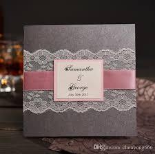 handmade wedding invitations gray rural handmade wedding invitations with rsvp nk303 custom