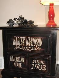 harley davidson subway art end side table great storage for