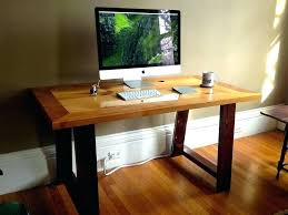 Industrial Computer Desks Custom Made Computer Desk Wood Image For Reclaimed