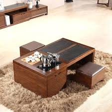 Storage Table For Living Room Coffee Table With Storage Stools Tea Table Simple