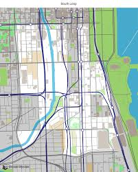 Chicago Neighborhood Maps by Map Of Building Projects Properties And Businesses In South Loop