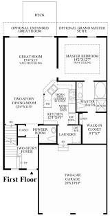 2 Story Great Room Floor Plans by Kensington Woods The Hickory Home Design