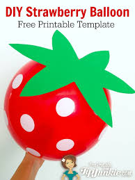 diy strawberry red balloon free printable tip junkie
